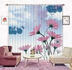 3D Dew Flowers Blockout Photo Curtain Printing Curtains Drapes Fabric Window CA