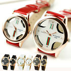 New Italy Round Cross Hollow Quartz Wrist Watch Men Women Watch Casual