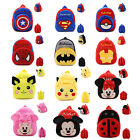New Preschool Baby Kids Cartoon Animal School Travel Backpack Toddler Snacks Bag