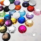20pcs Large Round Acrylic Jewels Crystal Flat Back Resin Rhinestones Gems, 25mm