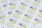"""Personalised eBay """"Thank you"""" / """""""" reminder labels / stickers. 12 per sheet!"""