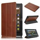 PU Leather Folio Case Cover Stand For Amazon Kindle Fire 7 2017 Tablet Book Case