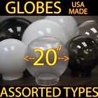 """BIG 20"""" LIGHT GLOBES ACRYLIC SPHERE REPLACEMENT SHADE Plastic Globe COVERS USA"""