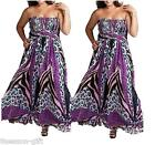 Fashion Womens Big Size Bohemia Chiffon Long Maxi Dresses Beach Vacation Dresses