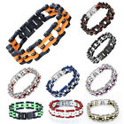 Fashion Cool Punk Men Jewelry 316L Stainless Steel Classic Bike Chain Bracelet