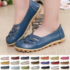 Casual Women Genuine Leather Ballet Flats Shoes Oxfords Hollow Lady Loafers 2017