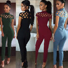 New Women Ladies Clubwear Hollow Playsuit Bodycon Party Jumpsuit&Romper Trousers