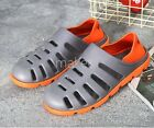 New Mens Hollow Breathable Sandals Shoes Flat Heel Slides Mules Slip On Summer