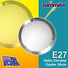 LUMMAX 30cm E27 Oyster Ceiling Light Home: Great-priced AU Approved Satin Chrome