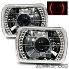 1984-1988 Ford Bronco II 7X6 H6014/H6052/H6054 Chrome Crystal Square Projecto...