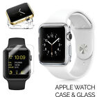 Tempered Glass Screen Protector + Clear Case Cover for Apple watch iWatch 42m