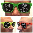 NEW Neon Colour Sunglasses 'OH YES' Black Lenses Glasses Carl Cox Ibiza DJ Party