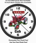 INTERNATIONAL-FARMALL CUB TRACTOR WALL CLOCK-JOHN DEERE