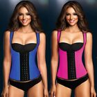 Women Corset Body Shaper Latex Rubber Waist Trainer Underbust Slimming Cincher