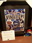 ADAM VINATIERI SIGNED AUTO PATS  FRAMED AND MATTED 8X10 PHOTO GRIDIRON