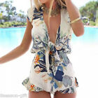 Summer Sexy Womens Floral Jumpsuit One-piece Casual Mini Short Playsuit Dress HX