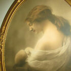 Mother Mary Jesus Hughes Sarjeant Detoit 1901 Gold Rococo LG Frame Very Old