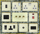 SATIN BRASS STANDARD OR LED DIMMER LIGHT SWITCHES SOCKETS  ETC