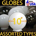 """ASSORTED 10"""" LIGHT GLOBES ACRYLIC SPHERES REPLACEMENT POLE Plastic Globe COVERS"""