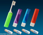 Orthodontic Travel Toothbrush & Toothpaste ~ Mini Mint Tubes, VTrim for Braces