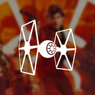 Star Wars / Tie Fighter / Imperial / Decal / Sticker / Vinyl $3.0 USD