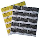 120 / 240 / 280 RCD LABELS, PERSONALISED + LOGO, 76mm x 50mm, YELLOW or BLACK