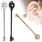 Surgical Steel Industrial Barbell 14G 38mm Ear Barbell Ring Piercing Jewelry image