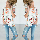 Womens Short Sleeve Floral Shirt Blouse Tops Loose T Shirt Casual Tee TOP Beach