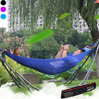 New Hammock with Stand Garden Yard Outdoor Lounger Swing Chair Steel Metal Frame