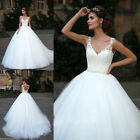 NEW White/Ivory Lace Tule Wedding Dress Bridal Gown Size 6 8 10 12 14 16 18 20++