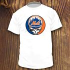 NEW GRATEFUL DEAD NEW YORK METS SHIRT STEAL YOUR FACE DEADHEAD BASEBALL TEE NY image