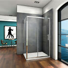 Sliding Shower Enclosure Walk In Glass Cubicle Screen Door Panel Stone Tray