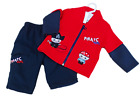 BNWT  Boys red  and navy pirate 2 piece suit Top and trousers BARGAIN SALE £7.99