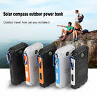 Portable 50000mAh Waterproof Compass 2 USB LED Solar Power Bank Battery Charger