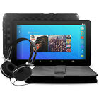 "10"" Quad Core Android 5.1 Tablet 16 GB Keyboard Folio Headphones Bundle WiFi"