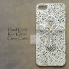 CW White Crystal Cross Crucifix Bling Case Cover For iPhone 7 Samsung Galaxy S8+