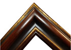 """5.375"""" WIDE dark Brown Gold Ornate Oil Painting Wood Picture Frame 83A"""