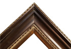 "5.75"" WIDE Dark Brown photo family Oil Painting Wood Picture Frame 333D"