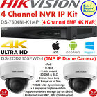 Hikvision 4Ch NVR 8MP IP KIT- DS-7604NI-K1/4P & 5MP IP Camera DS-2CD2155FWD-I