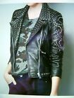 Zara Limited Edition Studded Jewel Leather Jacket Size S