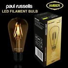 Industrial Vintage Edison Filament Amber E27 E14 B22 2W 4W 6W 8W Light Bulbs