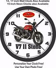 2016 MOTO GUZZI V7 II STONE MOTORCYCLE WALL CLOCK-FREE USA SHIP, YAMAHA, TRIUMPH $36.05 CAD on eBay