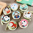 Portable Cat Face Round Zipper Coins Bag Wallet Earphone Key Stroage Pouch Case