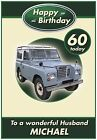 Personalised Land Rover Inspired Birthday Card - Amazing !