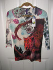 Look Both Ways Womens Blouse Top Leopard Design NWT