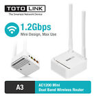 TOTOLINK A3 AC1200 Wireless Dual Band Wifi Router VPN Access Point Up Repeater
