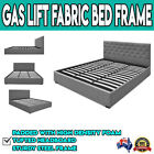 Queen King Fabric Gas Lift Storage Bed Frame Bedframe with Headboard