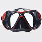 PC Adjustable Diving Scuba Glass Lens Underwater Silicone Mask Snorkel Glasses
