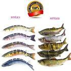 5/10PCS Fishing Lures Hard Baits Lifelike Segment Swimbait Bass Crankbaits #6