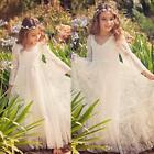 2017 New Boho Lace Flower Girl Dresses Cheap Country Style Little Girls Long Sl